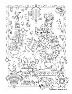 Toy Room Pampered Pets Coloring Book I Marjorie Sarnat