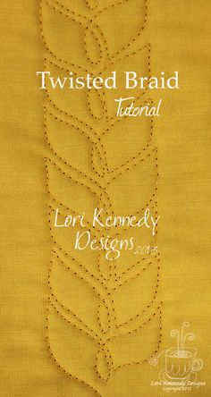 Twisted Braid Tutorial || Lori Kennedy Designs