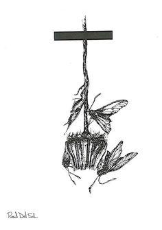 BLACK NATURE I de #RauldelSol. Reproducción digital firmada y seriada,  21,5x14,5 cm. #print #ilustration #ilustracion #Art #Barcelona