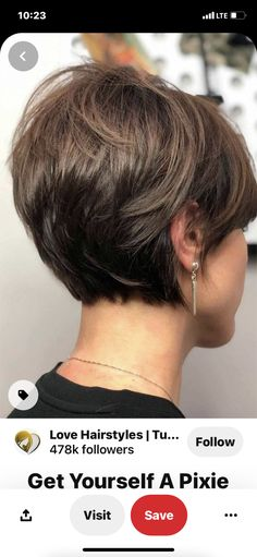 Short Hairstyles For Thick Hair, Medium Short Hair, Haircut For Thick Hair, Short Hair With Layers, Haircut And Color, Short Hair Cuts For Women, Bob Hairstyles, Medium Hair Styles, Short Hair Styles
