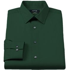 Men's Apt. 9® Extra-Slim Solid Stretch Dress Shirt (27 CAD) ❤ liked on Polyvore featuring men's fashion, men's clothing, men's shirts, men's dress shirts, green, mens long sleeve dress shirts, mens slim fit dress shirts, mens green shirt, apt 9 mens dress shirts and mens floral print dress shirt