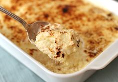 Potato and Cheese Purée with Horseradish Cream