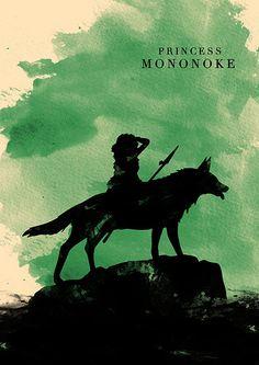 Hayao Miyazaki Minimalist Poster