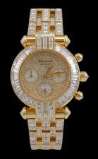 CHOPARD 'Imperiale' Baguette Diamond Chrono Watch