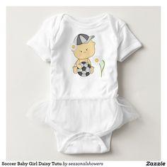 Soccer Baby Girl Daisy Tutu Tee Shirts