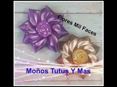 Como hacer FLOR MIL FACE Paso a Paso SATIN FLOWER HAIR BOW DIY How To Tutorial PAP - YouTube