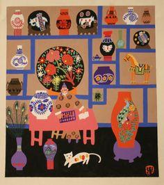 Pottery Merchant  / Jinshan Chinese Farmer Painting / Feng Aih-Dong