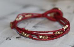 handmade rope with gold beads bracelet,elegant bracelet,simple bracelet,handmade bracelet,rope bracelet