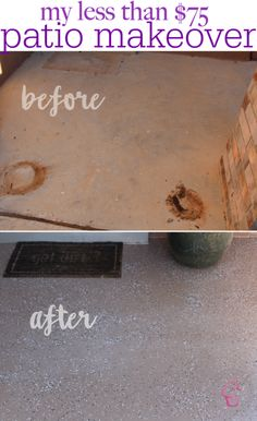 Easy DIY Front Porch Makeover Under 75 with BEHR Paint Budget friendly and what a HUGE difference it makes Love it D House, House With Porch, Budget Patio, Diy Patio, Pergola Patio, Screened Patio, Backyard Patio, Backyard Landscaping, Concrete Front Porch