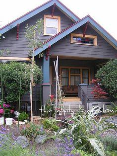Craftsman Bungalow Color Schemes | Exterior Color Schemes::Unusual Paint Combinations on the Historic ...