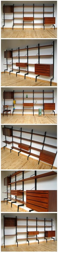 danish modular wall unit royal system design poul cadovius by eusebio