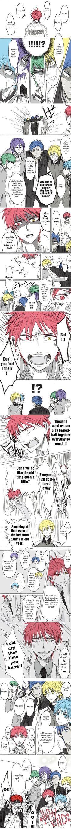 Tags: Anime, Kuroko no Basket, Kise Ryouta, Midorima Shintarou, Kuroko Tetsuya, Kagami Taiga, Murasakibara Atsushi:
