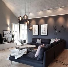 45 amazing gorgeous living room color schemes to make your room cozy 36 - Home Design Ideas Home Living Room, Interior Design Living Room, Living Room Designs, Living Room Decor, Living Spaces, Small Living, Interior Modern, Modern Living, Living Room Lighting Design