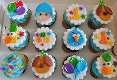 CupcakesHouse – Mini cupcakes Pocoyó Cupcakes Fondant, Cupcake Cookies, Mini Cupcakes, Cupcake Toppers, 3rd Birthday Parties, Birthday Party Decorations, 2nd Birthday, Cute Cakes, Rice Krispies
