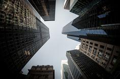 """Between""  #500px #NewYorkCity #NewYork #NYC #fisheye #urbanphoto #photo #USA #chinatown #streetview #nikon #samyang #8mm #D90 #Manhattan #Timessquare #sky #architecture"