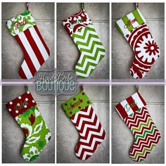 Personalized Christmas Stocking - Custom made to order - Many fabric options to choose from - Padded - Holiday Decor - Shipping Discount by HauteBebeBoutique on Etsy