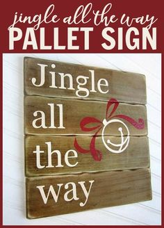 Add Holiday Color and Cheer to a Wood Sign and Jingle all the Way @DecoArt #decoartprojects #decoartprojects