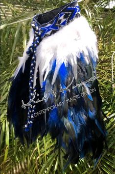 """He Tangaroa"" - Baby Full Feather Cloak White Hen, Black And White, Coque Feathers, Cloak, Your Design, Infant, Things To Come, Handsome, Pattern"
