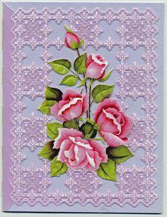 Pergamano Rose Card