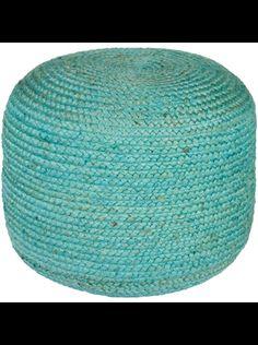 Zinc Pouf, Blue - Accessories