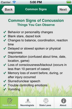 Concussion Quick Check. My boy got his 2nd one today :(
