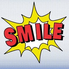 Pop Smile 1 by IHD Studio Textual Art on Wrapped Canvas