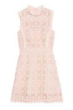 Sandro Geometric Lace Dress, $570; sandro-paris.com