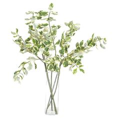 Add a lush touch to your console table vignette or accent a floor vase in the foyer with this lovely faux euonymus stem.   Product: ...