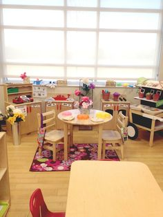 Pre-K Tweets: 2014 Spring Room Tour! A beautiful example of a space that is Natural and calm, and incorporates literacy without shoving it in the kids faces.