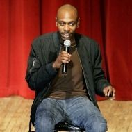 Dave Chapelle. You know he's about to deliver a killer punchline at this moment.