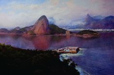 Mauro Ferreira Entrada da Baía de Guanabara – 100 x 150 cm OST – Ass. CIE e Dat. 2010