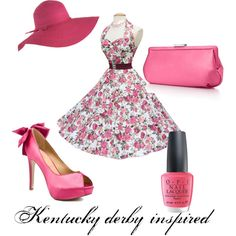 An outfit I created that I would love to wear to a Kentucky derby themed benefit I am going to in a few weeks!