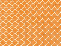 Distressed Tangerine Quatrefoil Backdrop: Peek A Bootique
