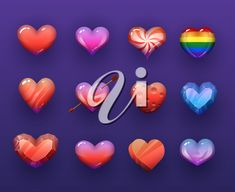 Cartoon vector hearts isolated vectir icons set. Rainbow, candy and ruby gemstone, ice crystal, pierced with arrow red and colorful hearts, pc or mobile game assets, gui design isolated elements #2646596 | Clipart.com Valentines Day Clipart, Rainbow Candy, Ice Crystals, Game Assets, Ruby Gemstone, Mobile Game, Clipart Images, Icon Set, Royalty Free Images