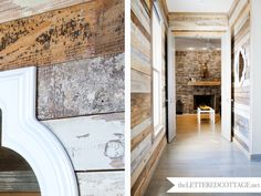 Rustic_Modern_21 The Lettered Cottage.  wood plank walls, stone fireplace stone walls  white accent
