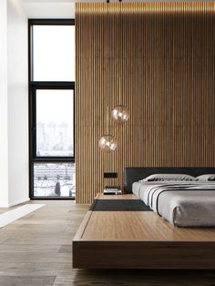 Apartments in Moscow, Skolkovo Park. on Behance Modern Apartment Design, Modern Home Interior Design, Home Office Design, Interior Architecture, House Design, Bedroom Bed Design, Modern Bedroom Design, Bedroom Decor, Family Room Walls