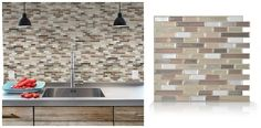 Peel-and-stick tiles These DIY, removable tiles are an easy way to spruce up your home with a product that's made in Quebec. They're resistant to heat and humidity, so you can use them as a backsplash in the kitchen or bathroom. Smart Tiles, $7.98- $8.98, thesmarttiles.com.