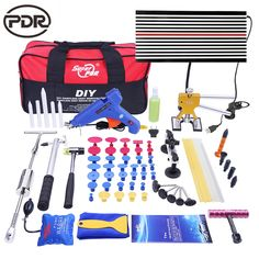 108.99$  Buy now - http://aliccm.shopchina.info/1/go.php?t=32816937244 - PDR Tools DIY Paintless Dent Repair Auto Repair Tool Car Body Repair Kit LED Lamp Reflector Board Dent Puller Kit EU Glue Gun   #buyininternet