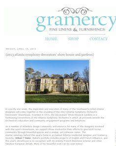 Atlanta Symphony Orchestra Decorators Show House & Gardens | Gramery, April 2013