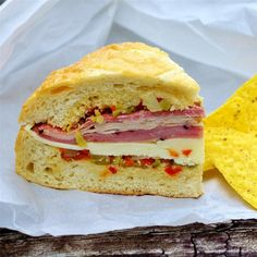 "Real N'awlins Muffuletta | ""I come back to this recipe again and again - always a crowd-pleaser."""