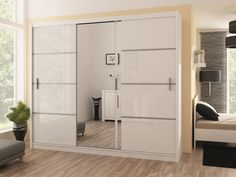Vezon 250 - white or oak wardrobe Single Door Wardrobe, Oak Wardrobe, Wardrobe Sale, Sliding Wardrobe Doors, White Wardrobe, Mirrored Wardrobe, Wardrobe Cabinets, Modern Wardrobe, Bedroom Wardrobe