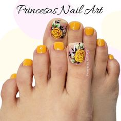 Pretty Toe Nails, Pretty Toes, Toe Nail Designs, Toe Nail Art, Manicure And Pedicure, Finger, Youtube Princesas, Pretty Nails, Gorgeous Nails