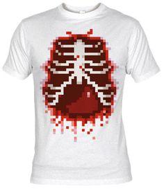 Camiseta Entrañas 8-bits por Demonigote - Fanisetas