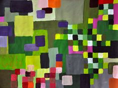 """Color Investigation-    """"Several years ago, watching students meticulously (and tensely) painting in tiny circles and squares on a series of color vocabulary worksheets I had developed to teach hue, value, chroma, and complementary colors, it occurred to me that I could introduce these same concepts while letting the students enjoy applying paint and developing compositions. I'd be teaching color in a more authentic context and building a bridge between color study and making paintings…"""