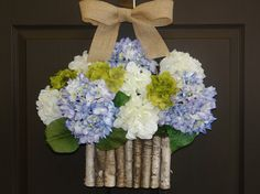 Hey, I found this really awesome Etsy listing at https://www.etsy.com/listing/192908877/hydrangea-wreath-summer-wreath-etsy