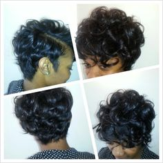 short hair - growing out style