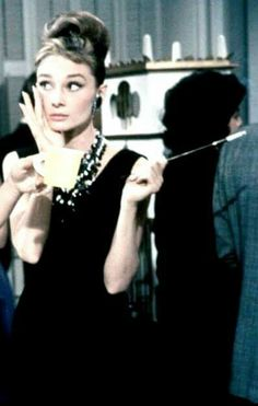 Breakfast at Tiffany's, starring Audrey Hepburn as Holly Golightly.