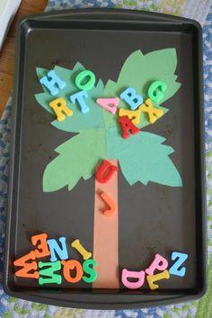 Fun activity idea to go along with the classic children's book Chicka Chicka Boom Boom ABC's