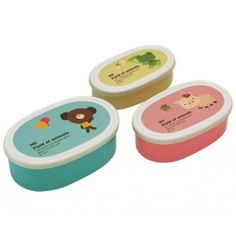 Microwavable Nested Container 3 Bear Frog Pig