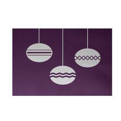 The Holiday Aisle Geo-Bulbs Decorative Holiday Print Purple Indoor/Outdoor Area Rug Rug Size: 4' x 6'